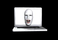 The Screaming Computer Stock Photo