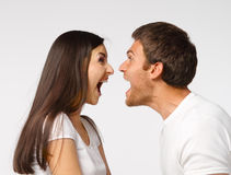 Screaming Couple Stock Photography