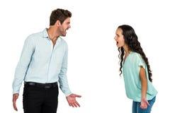 Screaming couple having argument Stock Image