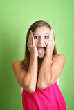 Screaming crazy woman Royalty Free Stock Photos