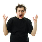 Screaming from despair a man Stock Photography