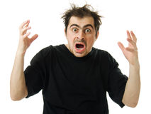 Screaming from despair a man Royalty Free Stock Photos