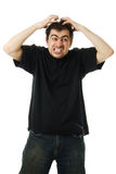 Screaming from despair a man Royalty Free Stock Photo