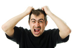 Screaming from despair a man Royalty Free Stock Image
