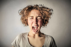 Screaming desperate woman Stock Photography