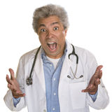 Screaming Doctor Royalty Free Stock Photos