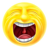 Screaming Emoticon Emoji Royalty Free Stock Image