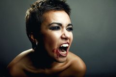 Screaming expression Royalty Free Stock Photography