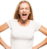 Screaming female Royalty Free Stock Photo