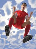 Screaming football player Royalty Free Stock Photos