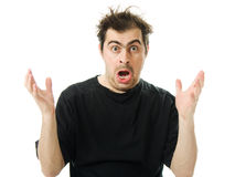 Screaming From Despair A Man Royalty Free Stock Images