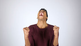 Screaming with Frustration, Shouting Afro-American Man Stock Images