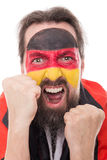 Screaming german fan is exciting and aggressive Stock Image