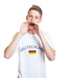Screaming german sports fan Royalty Free Stock Image