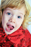 Screaming girl Stock Images