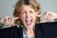 Screaming girl Stock Image