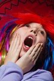 Screaming girl Stock Photos