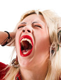 Screaming girl Royalty Free Stock Photography