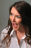 Screaming girl. Picture of young screaming woman Stock Images
