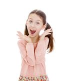 Screaming girl closeup Royalty Free Stock Image