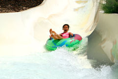Free Screaming Girl Down The Slide Royalty Free Stock Photo - 2321225