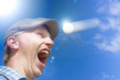 Screaming Golfer Stock Photography