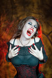 Screaming halloween vampire Royalty Free Stock Photography