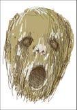 Screaming head Stock Image