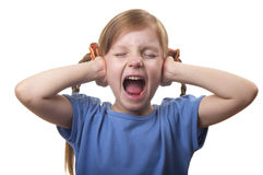 Screaming and ignoring Stock Photo