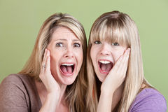 Screaming Ladies Stock Image
