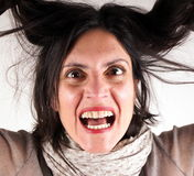 Screaming lady Stock Photos