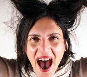 Screaming lady Stock Image