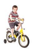 Screaming little boy on bike Stock Photography