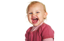 Screaming little girl Royalty Free Stock Photos