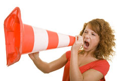 Screaming loudly Royalty Free Stock Photography