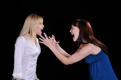Screaming mad woman Stock Photos