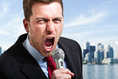 Screaming man Royalty Free Stock Image