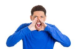 Screaming man Royalty Free Stock Images