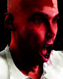 Screaming Man 7. A emotional image of a man who is screaming in terror or pain Stock Images