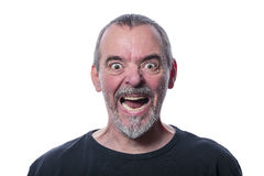 Screaming man with beard Stock Photo