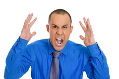 Screaming man Stock Photography