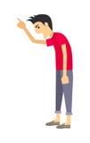 Screaming Man Flat Vector Illustration Stock Image