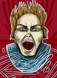 Screaming man Royalty Free Stock Photo