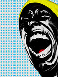 Screaming man pop art Royalty Free Stock Photos