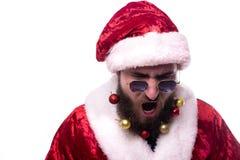 Man dressed as Santa Claus stock image