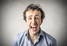 Screaming man Royalty Free Stock Photography