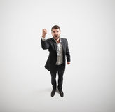 Screaming man showing fist Stock Image
