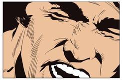 Screaming man. Stock illustration. Screaming man. Stock Photo