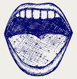 Screaming mouth royalty free illustration