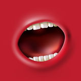 Screaming mouth Royalty Free Stock Image